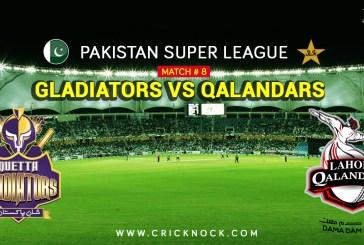 PSL T20 Match 8   Watch Lahore Qalandars vs Quetta Gladiators Highlights