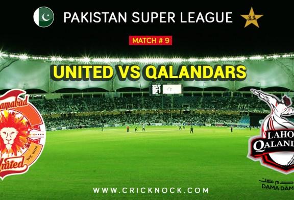 PSL T20 Match 9   Watch Lahore Qalandars Vs Islamabad United Highlights