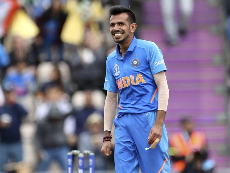 India's Yuzvendra Chahal celebrates the dismissal of South Africa's David Miller