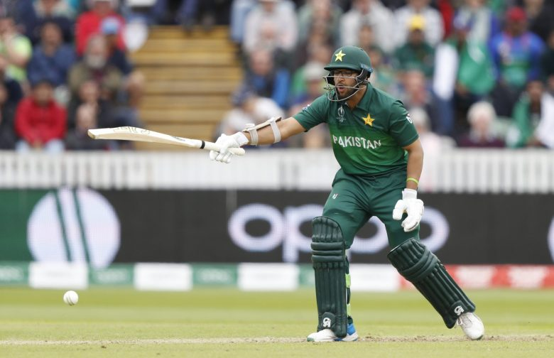 Pakistan's Imam-ul-Haq shouts out after play a shot off the bowling of Australia's Nathan Coulter-Nile