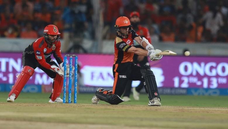 Sunrisers Hyderabad player Kane Williamson bats during VIVO IPL cricket T20 match against Royal Challengers Bangalore