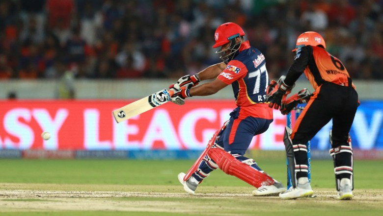 Delhi Daredevils player Rishab Pant bats during VIVO IPL cricket T20 match against Sunrisers Hyderabad