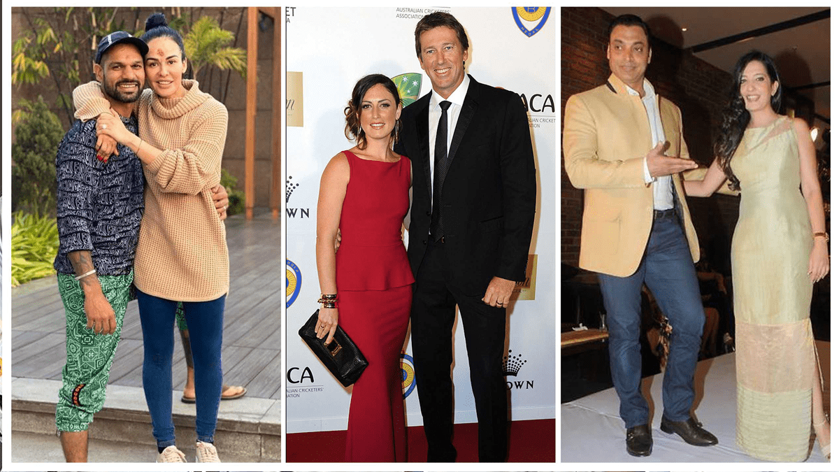 Cricketers and their wives