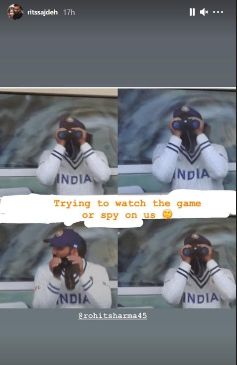 Ritika Sajdeh, Rohit Sharma