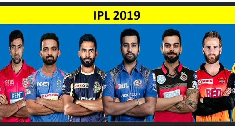 IPL 2019 all teams