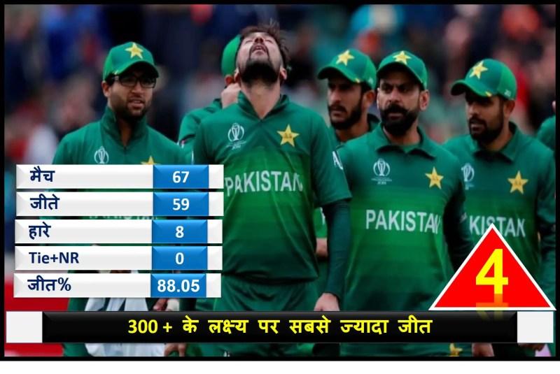 वनडे क्रिकेट 300 से अधिक रन:  pakistan