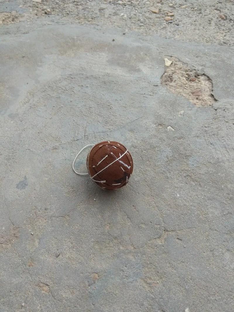 Gully cricket ball