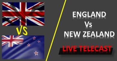 ENG vs NZ Live Telecast