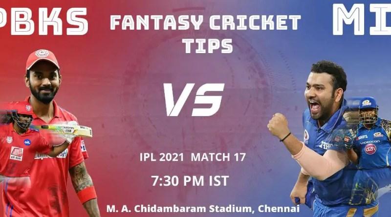 IPL 2021 42th match MI vs PBKS