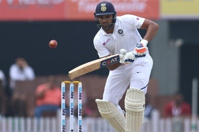 Rohit Sharma scores a hundred