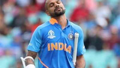 Dhawan out of T20I series against West Indies 3