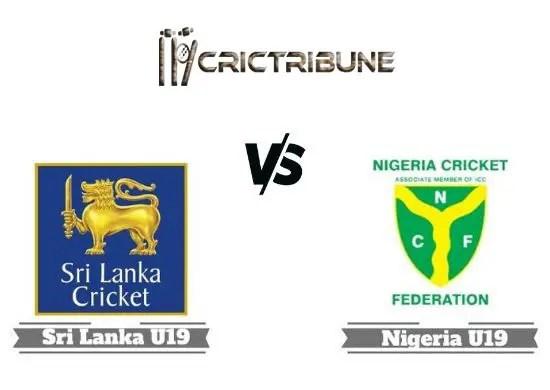 SL U19 vs NG U19 Live Score, Plate Quarter-Final 1, Sri Lanka U19 vs Nigeria U19 Live