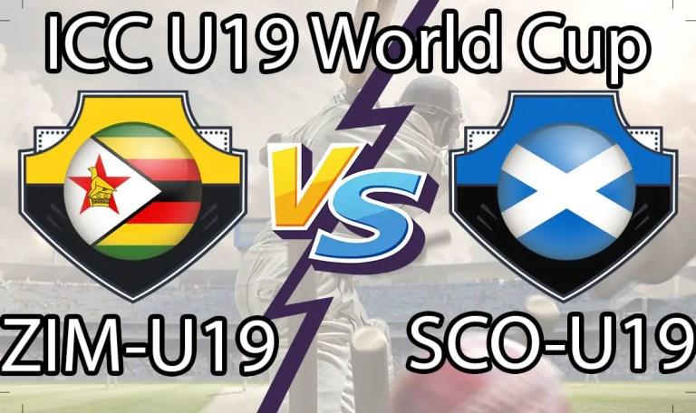 Zimbabwe U19 vs Scotland U19