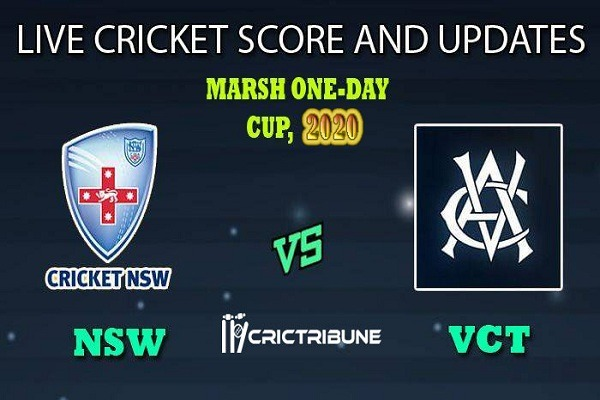 NSW vs VICLive Score 19th ODI Match between New South Wales vs Victoria Live on 14 February 20 Live Score & Live Streaming