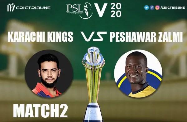 KK vs PZ Live Score 1st Match between Karachi Kings vs Peshawar Zalmi Live on 21 February 2020 Live Score & Live Streaming