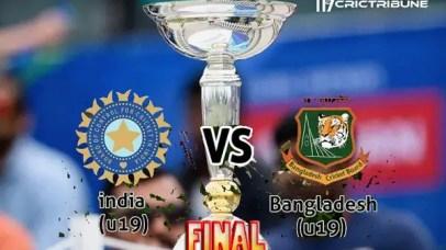 IND U19 vs BAN U19 Live Score Final of U19 WC between India U19 vs Bangladesh U19 on 09 February 2020 Live Score & Live Streaming