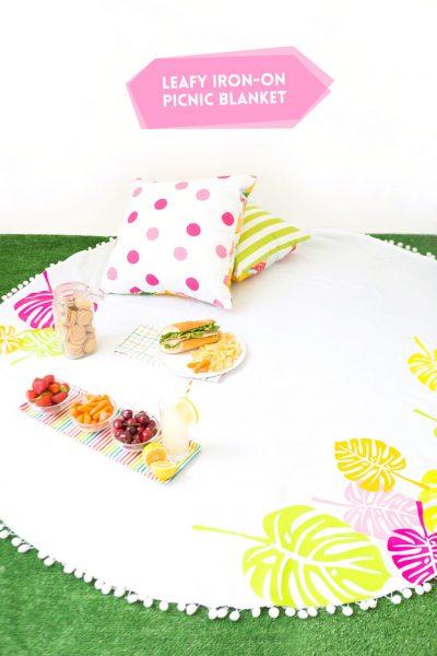 Use iron on vinyl to create personalized picnics!