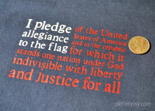 Here's a t-shirt that you can make with your Cricut for the 4th of July! Love this idea!