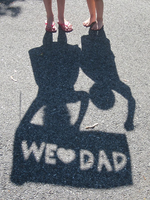 Create a stencil with a message for Dad with your Cricut.