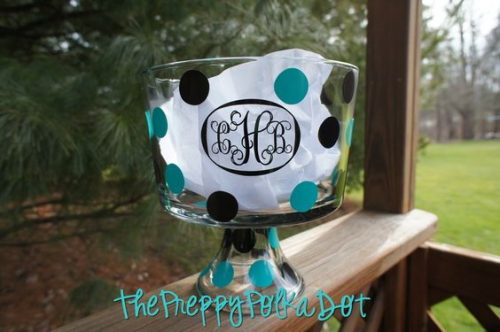 This monogrammed dish is perfect for dinner parties and other gatherings!