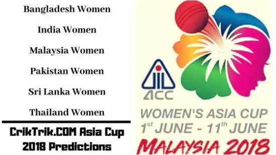 Womens asia cup - today match prediction