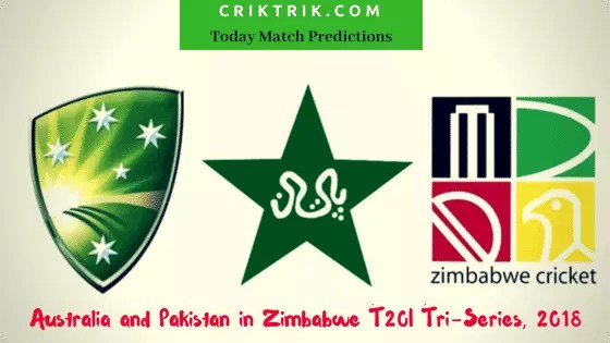 australia vs pakistan vs zimbabwe - today match prediction
