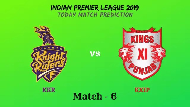 KKR vs KXIP - IPL 2019 match prediction tips