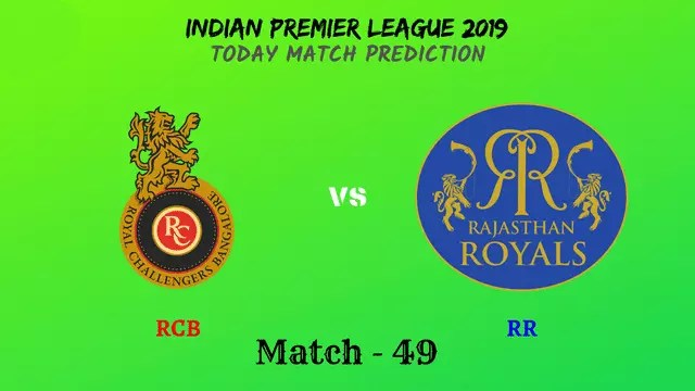 RCB vs RR - Match 49 - IPL 2019 match prediction tips