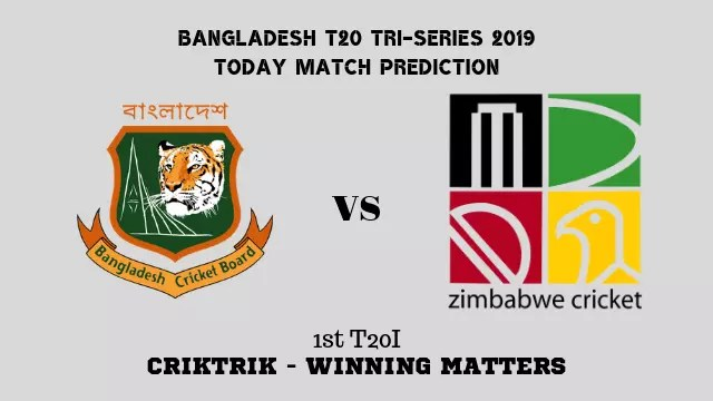 ban vs zim 1st t20 match prediction - Bangladesh vs Zimbabwe, 1st T20 Today Match Prediction - 13/9/2019