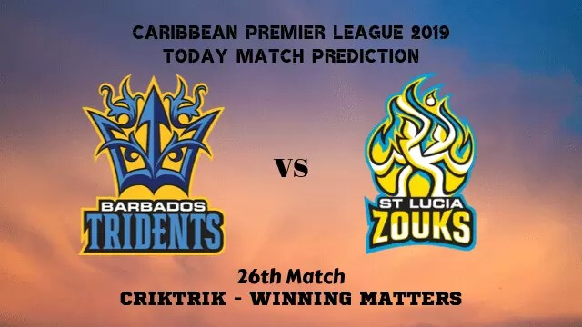 bt vs stz 26th match prediction - BT vs STZ, 26th T20 - Today Match Prediction, CPL 2019