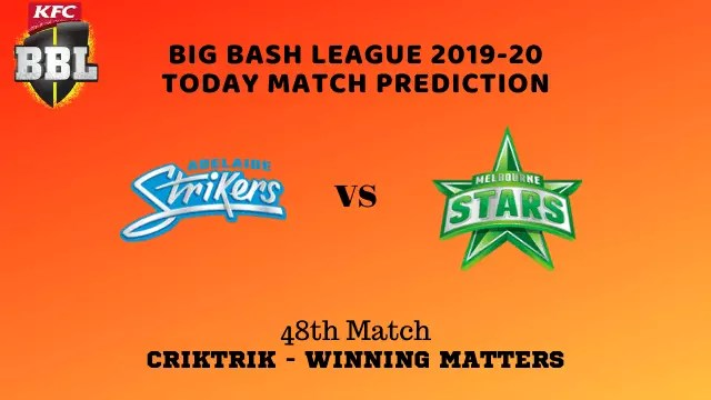 ads vs mls prediction match48 - ADS vs MLS Today Match Prediction - 48th T20, Big Bash League 2019-20