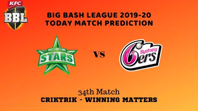 mls vs sys prediction match34 BBL 2019 20 - MLS vs SYS Today Match Prediction - 34th T20, Big Bash League 2019-20
