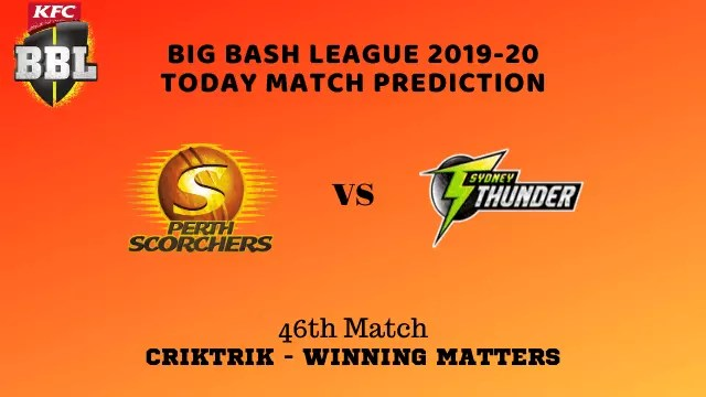 prs vs syt prediction match46 BBL 2019 20 - PRS vs SYT Today Match Prediction - 46th T20, Big Bash League 2019-20