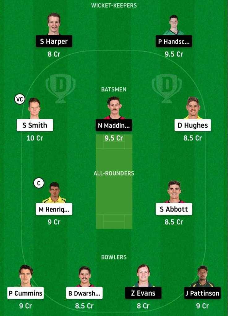 NSW vs VCT Dream11 Prediction