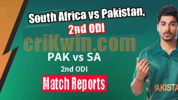 PAK vs RSA Today Match Reports 2nd ODI 100% Sure Match Prediction