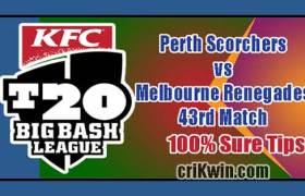 PRS vs MLR Today Match Reports BBL 43rd 100% Sure Match Prediction
