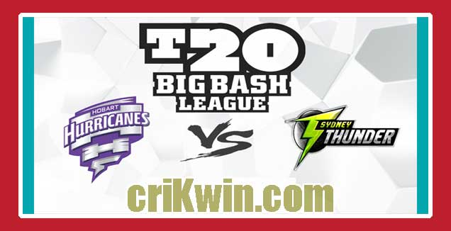 SYT vs HBH Match Reports BBL T20 55th 100% Sure Match Prediction