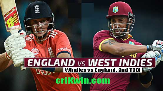 WI vs ENG 2nd T20 Today Match Prediction - Who will win Today 100