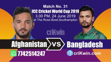 Afg vs Ban 31st Match World Cup 2019 Winner Astrology Predict