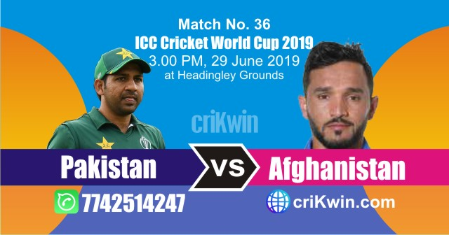 Afg vs Pak 36th Match World Cup 2019 Winner Astrology Predict
