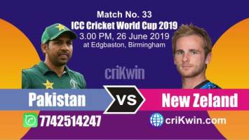NZL vs Pak 33rd Match World Cup 2019 Winner Astrology Predict