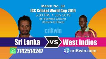 WI vs SL 39th Match World Cup 2019 Winner Astrology Predict
