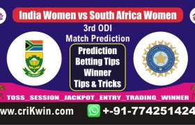 RSAW vs INDW Womens ODI Today Match Prediction Who Will Win