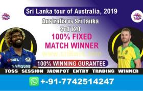 Today Match Prediction 3rd T20 SL vs Aus Match Who Will Win 100 Sure