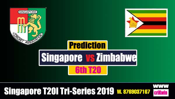 Tri Series Today Match Prediction Raja Babu Zim vs Sin 6th Match cricket match prediction ZIM vs SIN