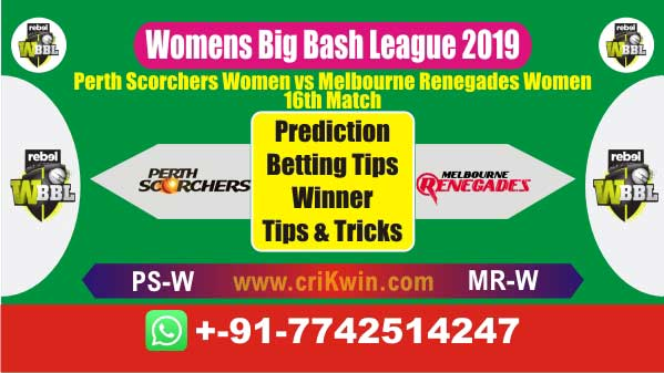 WBBL 2019 Today Match Prediction MRW vs PSW 16th Match Who Win
