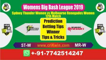 WBBL 2019 100% Sure Today Match Prediction winning chance of STW vs MRW 12th Cricket True Astrology Winner Toss Tips Who will win today