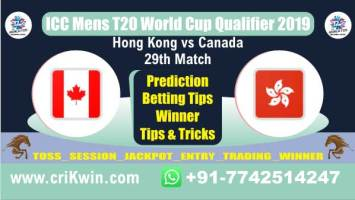 WC T20 Qualifier 100% Sure Today Match Prediction winning chance of CAN vs HK 29th Cricket True Astrology Winner Toss Tips Who will win today