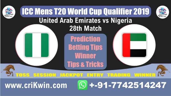 WC T20 Qualifier 100% Sure Today Match Prediction winning chance of NIG vs UAE 28th Cricket True Astrology Winner Toss Tips Who will win today
