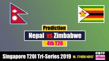 Tri Series Today Match Prediction Raja Babu Zim vs Nep 4th Match cricket match prediction ZIM vs NEP